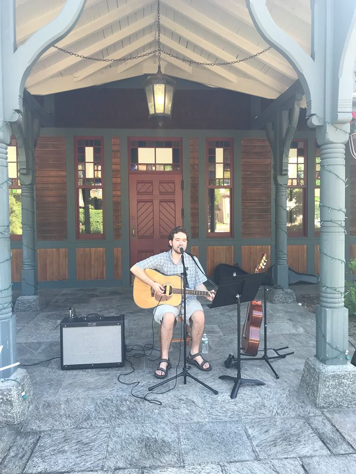 Ben Riley Performing at Tuxedo Park Farmers Market